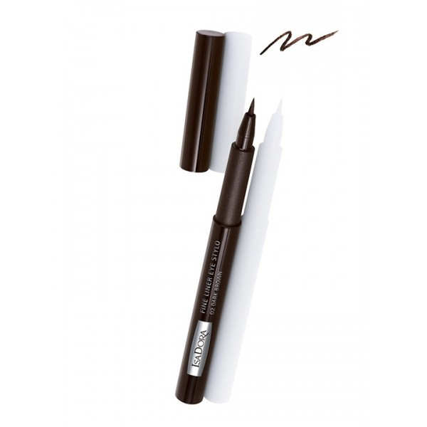 Isadora Fine Liner Eye Stylo Dark Brown 02
