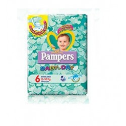 PANNOLINI PER BAMBINI PAMPERS BABY DRY DOWNCOUNT NO FLASH XL15 PEZZI