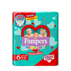 PAMPERS BABY DRY MUTANDINO SM TAGLIA 6 EXTRALARGE SMALL PACK14 PEZZI